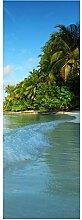 wandmotiv24 Türtapete Maledivenstrand 70 x 200cm