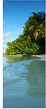 wandmotiv24 Türtapete Maledivenstrand 80 x 200cm