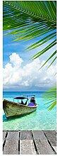 wandmotiv24 Türtapete Paradies 70 x 200cm (B x H)