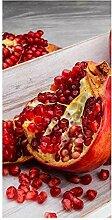 wandmotiv24 Türtapete Rote Granatapfelfrüchte