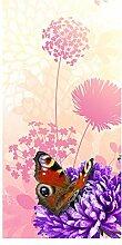 wandmotiv24 Türtapete Schmetterlinge 100 x 200cm