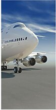 wandmotiv24 Türtapete Startendes Flugzeug 100 x