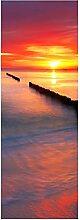 wandmotiv24 Türtapete Stimmungsvolles Meer 70 x