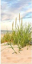 wandmotiv24 Türtapete Strand 100 x 200cm (B x H)
