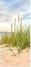 wandmotiv24 Türtapete Strand 90 x 200cm (B x H) -