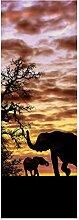 wandmotiv24 Türtapete Tiere im Abendrot 70 x