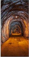 wandmotiv24 Türtapete unterirdischen Tunnel 100 x