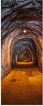 wandmotiv24 Türtapete unterirdischen Tunnel 80 x