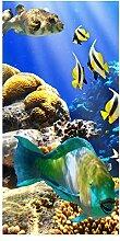 wandmotiv24 Türtapete Unterwasser 100 x 200cm (B