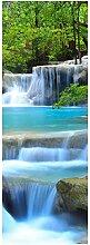 wandmotiv24 Türtapete Wasserfall im Wald 70 x