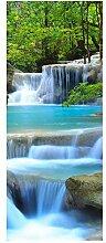wandmotiv24 Türtapete Wasserfall im Wald 80 x