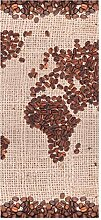 wandmotiv24 Türtapete Weltkarte Kaffee 90 x 200cm