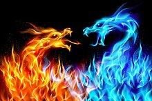 wandmotiv24 Vliestapete Feuerdrachen Größe: 400