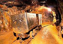 wandmotiv24 Vliestapete Grubenbahn Größe: 400 x