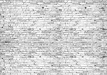 wandmotiv24 Vliestapete Klinkersteine Grau