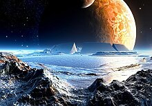 wandmotiv24 Vliestapete Neuer Planet Größe: 400
