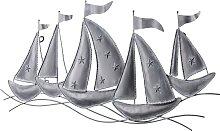 Wandobjekt Schiffe, grau