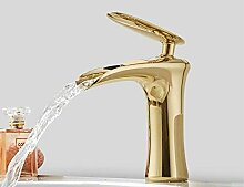 WANDOM Badezimmer Gold Toilette Wasserfall