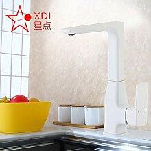 WANDOM Badezimmer matt weiß Küchenarmatur Kupfer