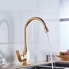 WANDOM Luxus Küchenarmatur Raum Aluminium Gold