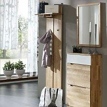 Wandpaneel Garderobe aus Wildeiche Massivholz 60