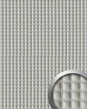 Wandpaneel Quadrat Leder Luxus 3D Blickfang