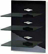 Wandregal-3 ModernMoments Farbe: Schwarz lackiert