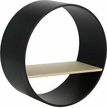Wandregal Circum rund:Stil Farbe: Schwarz,