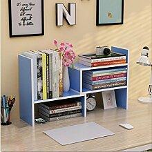 Wandregal einfacher Desktop Shelf Kreatives Bücherregal Auf dem Tisch Regal Einfacher moderner Schreibtisch Incorporated Kleine Bücherregale Wandhalterung Ablage ( Farbe : 9* , größe : H46.5*W17CM )