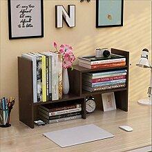 Wandregal einfacher Desktop Shelf Kreatives Bücherregal Auf dem Tisch Regal Einfacher moderner Schreibtisch Incorporated Kleine Bücherregale Wandhalterung Ablage ( Farbe : 11* , größe : H46.5*W17CM )