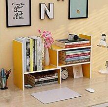 Wandregal einfacher Desktop Shelf Kreatives Bücherregal Auf dem Tisch Regal Einfacher moderner Schreibtisch Incorporated Kleine Bücherregale Wandhalterung Ablage ( Farbe : 10* , größe : H46.5*W17CM )