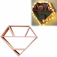 Wandregal Kreatives Holz Diamantform Wandbehang