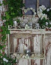 Wandregal Küchenregal Französischer Regal Eisenregal Wandkonsole Antik Vintage