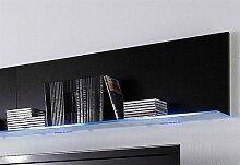 Wandregal Line 120x20x26 cm schwarz Wandboards
