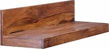 Wandregal Massiv-Holz Sheesham Holzregal 80 cm