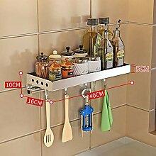Wandregal ohne Bohren - Küchenregal aus Edelstahl