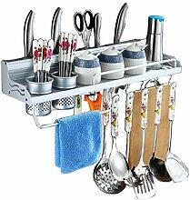 Wandregale für die Küche Punch-Free Aluminum