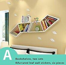 Wandregale Regale, Wand Bücherregale, kreative Wohnzimmer Schlafzimmer Wandregale, Bücherregal Racks ( stil : A )
