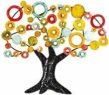 Wandrelief 'Lebensbaum', 90 cm, mehrfarbig