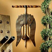 Wandschild Toscano Korkenzieher