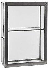 Wandschrank 4 Glasseiten 1 Regal