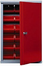 Wandschrank mit 1 Tür und 18 Aufbewahrungsboxen -