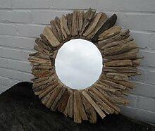 Wandspiegel–Kleine Treibholz Sun Spiegel–50cm Wilde