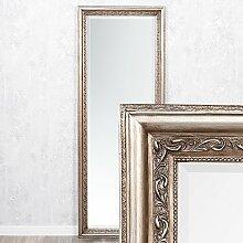Wandspiegel ARGENTO barock 160x60cm Spiegel Silber-Antik Holzrahmen und Facette