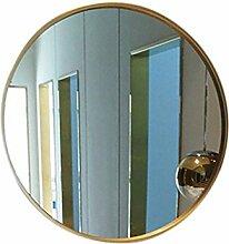 Wandspiegel aus europäischem Eisen Runder Spiegel