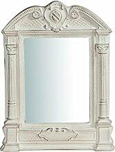 Wandspiegel aus Holz Finish Weiß Antik Made in Italy L23x pr3,5X H43cm