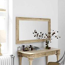 Wandspiegel aus Wildeiche Massivholz weiß geölt