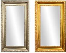 Wandspiegel Barock Silber 66x41cm mit Facettenschliff Spiegelglas Badspiegel Ankleidespiegel Garderobenspiegel