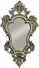 Wandspiegel Barock Silber Spiegel Antik-Stil 49x29cm