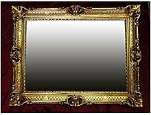 WANDSPIEGEL BAROCKSPIEGEL SPIEGEL IN GOLD 90x70 cm